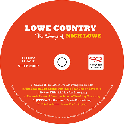 Lowe Country LP disc label